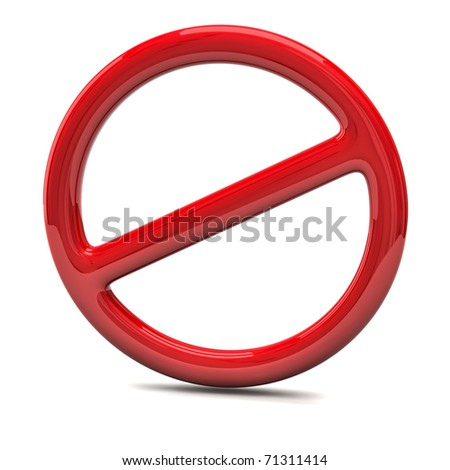 Do Not warning sign - stock photo
