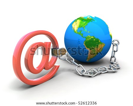 """""""DOG"""" On a chain - stock photo"""
