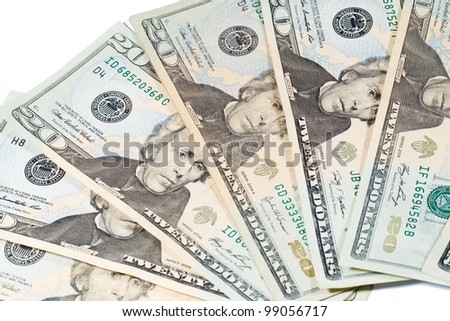 20 Dollar Bills; Cash Currency