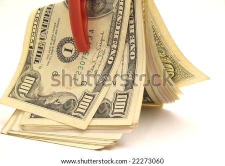 Dollar snap - stock photo