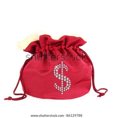 Dollar symbol over a sack - stock photo