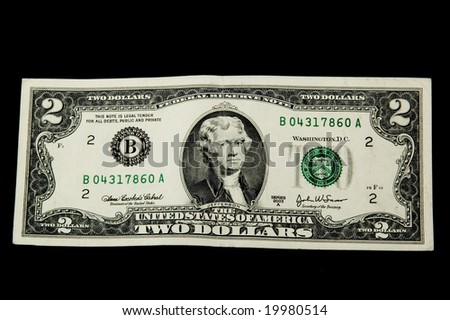 2 dollars - stock photo