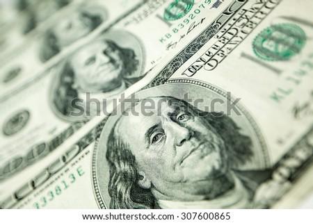 100 dollars  - stock photo