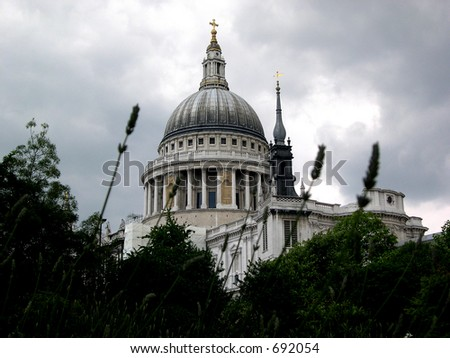 dome of St Pauls Cathedral - stock photo