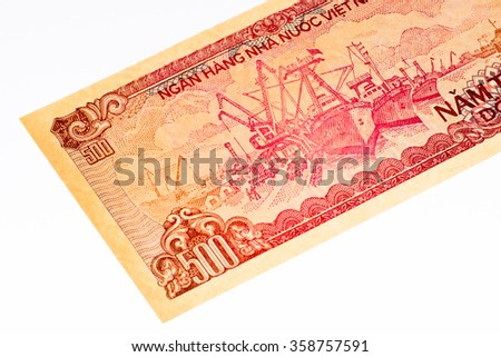 200 dong bank note of Vietnam. Dong is the national currency of Vietnam