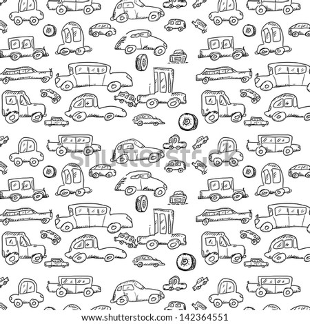 doodle car pattern stock illustration 142364551 shutterstock