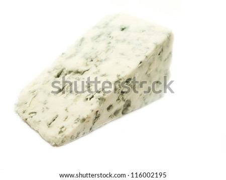 dor blue cheese isolated on white background - stock photo