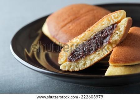dorayaki japanese snack - stock photo