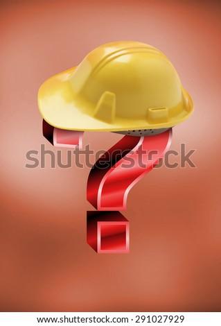 doubt construction - stock photo
