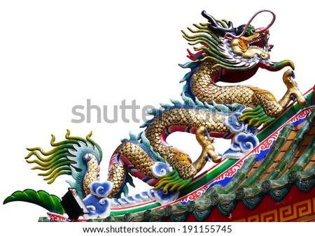 dragon in Chinese temple