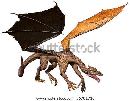 dragon prey - stock photo