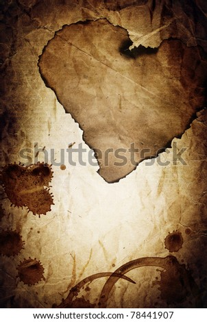 """Dramatic love"" vintage abstract background. - stock photo"