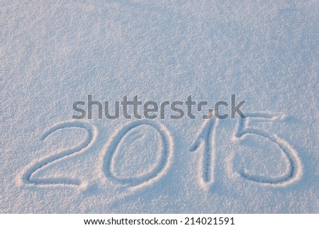 2015 draw on snow, place for your text