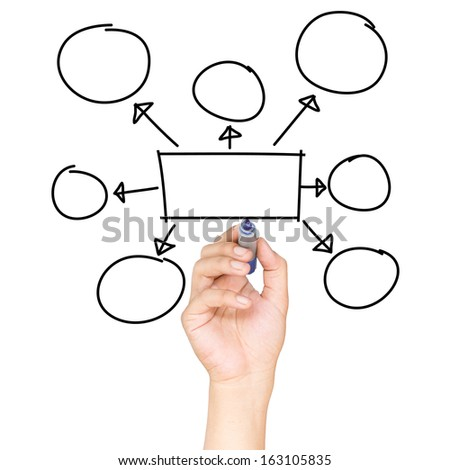 drawing an empty diagram - stock photo