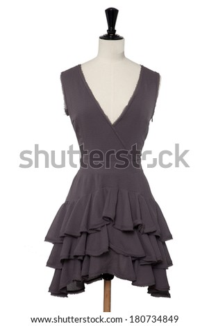Dress on mannequin, isolated on white