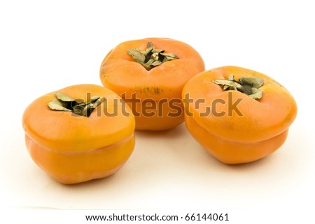 dried persimmon on white background