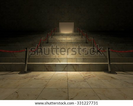 3ds rendered image of the marble stair