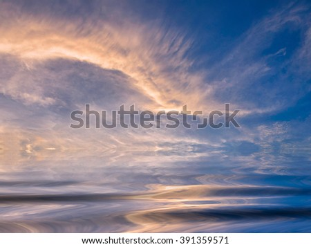 , During the time sunrise and sunset - stock photo