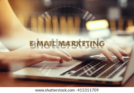 """ E-Mail Marketing "" Internet Data Technology Concept - stock photo"