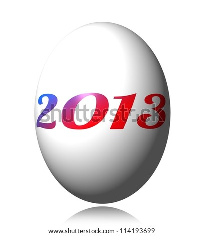 2013 Easter Egg, a new year is born.