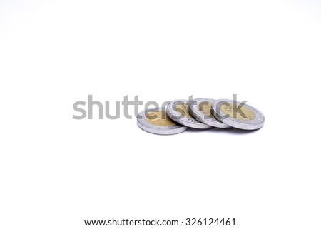 4 Egyptian Pounds - stock photo