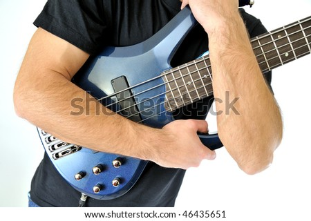 Electric Bass Guitar - stock photo