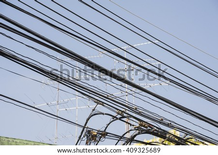 electric wires and antenna