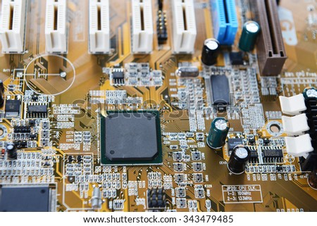 electronic mother board of computer - stock photo
