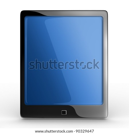 Elegant Touch Pad 3D Rendered isolated - stock photo