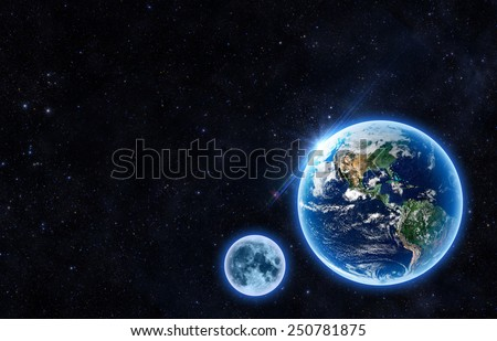 - Elements of this Image Furnished by NASA - stock photo