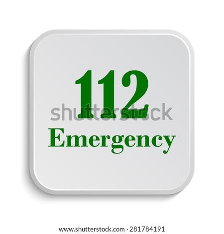 112 Emergency icon. Internet button on white background.  - stock photo