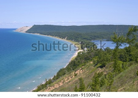 Empire Bluffs, Sleeping Bear Dunes National Lake shore - Empire, Michigan, USA - stock photo
