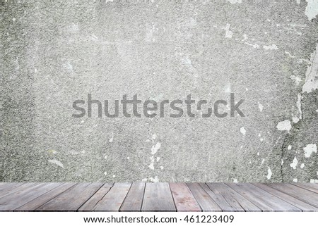 Empty brown wooden table and abstract background , can be used for montage or display your products