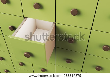Empty 3D drawer
