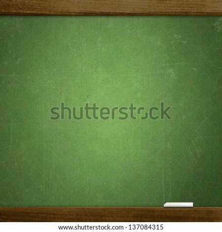 empty school blackboard - stock photo
