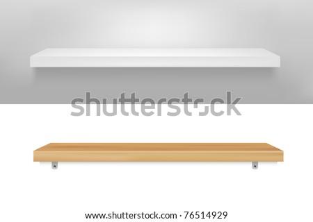 2 Empty Shelf - stock photo