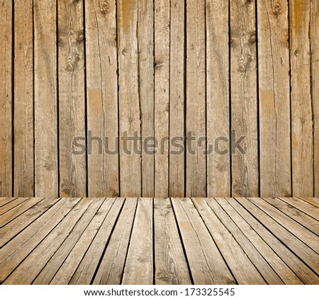 empty wooden deck background