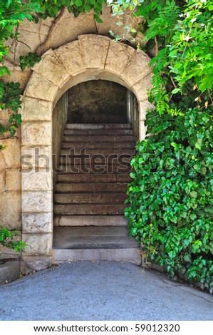 Entrance. Secret gateway to another world - stock photo
