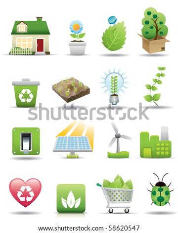 Environment Protection Icon Set -- Premium Series - stock photo