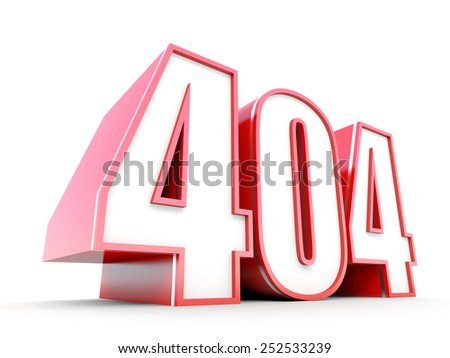 404 Error 3D typography - stock photo