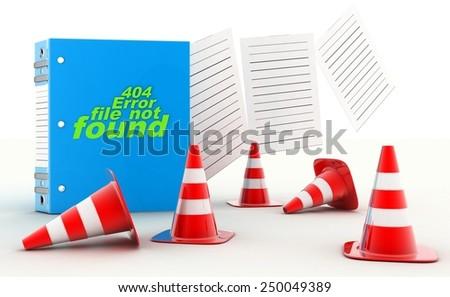 404 Error file not found - stock photo