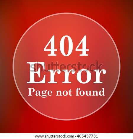 404 error icon. Internet button on red background.