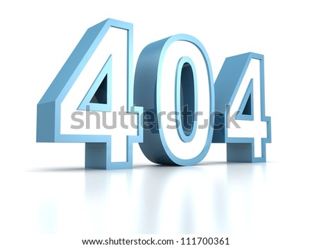 404 error page concept of computer error - stock photo