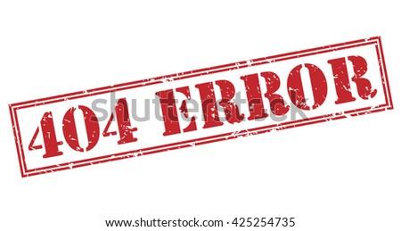 404 error stamp - stock photo