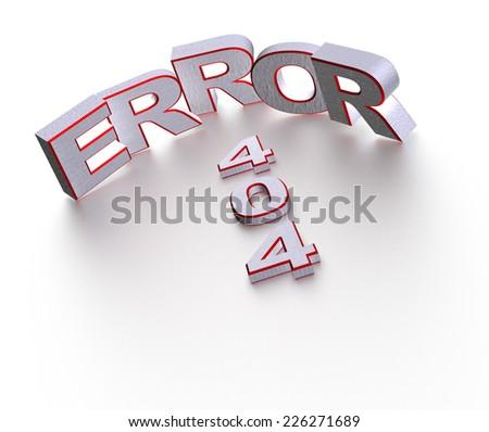 404 error symbol. 3d render illustration - stock photo