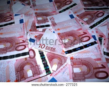 10 euro background - stock photo