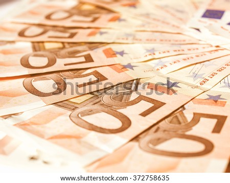 Euro banknote (currency of the European Union) vintage