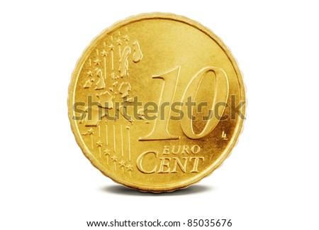 10 Euro Cent - stock photo