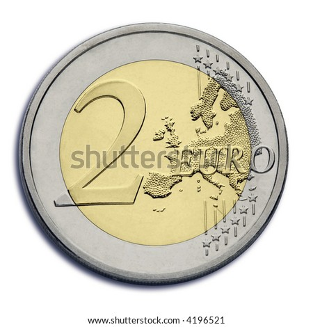2 euro coin - stock photo