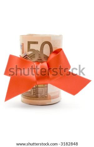 50 Euro Gift - stock photo